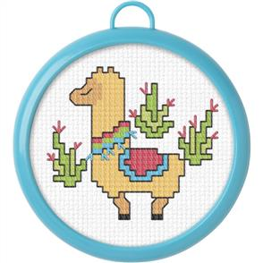 "Bucilla  My 1st Stitch Mini Counted Cross Stitch Kit 3"" - Llama"