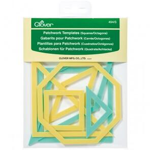 Clover Patchwork Templates - Square / Octogons