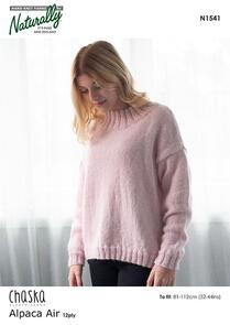 Naturally N1541 Oversized Sweater Knitting Pattern