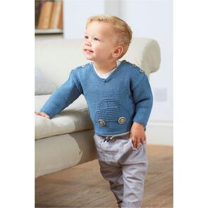 DMC Baby Cotton Car Sweater Pattern