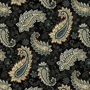 Studio E Fabrics  Le Poulet - 5458-99 - Black - Pattern