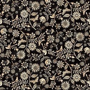 Studio E Fabrics  Le Poulet - 5460-99 - Black
