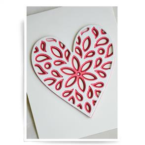 Birch Press  Dies - Fiori Heart Set
