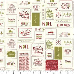 Moda  The Christmas Card Red and Green Cards
