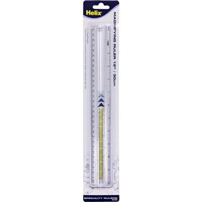 """Maped Helix 12"""" Magnifying Ruler - Clear"""