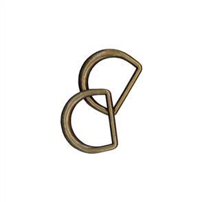 """Clover D-Rings 3/4"""" 2/pkg"""