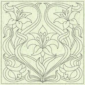 """QH Textiles  Sashiko Squares - Kaza Guruma 2 - 103 - 12""""x12"""""""