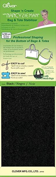 Clover  Shape'N Create Bag and Tote Stabilizer Black | Nancy Zieman