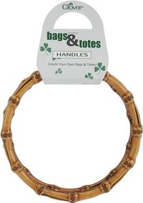 Clover  Plastic Round Handles Bamboo-Nat. 6-1/4 Inch