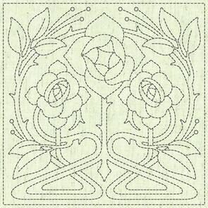 "QH Textiles  Sashiko Squares - Passion - 102 - 12""x12"""