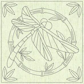 """QH Textiles  Sashiko Squares - Summertime - 103 - 12""""x12"""""""
