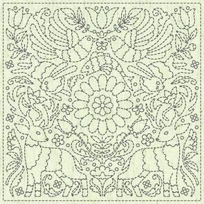 """QH Textiles  Sashiko Squares - Good News - 104 - 12""""x12"""""""