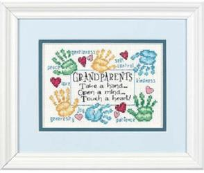 Dimensions  Grandparents Touch A Heart - Cross Stitch Kit