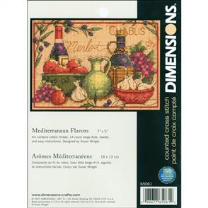 Dimensions Mini Counted Cross Stitch Kit - Mediterranean Flavors