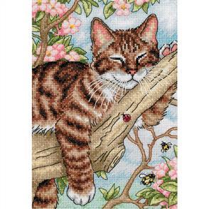 Dimensions  Napping Kitten  Cross Stitch Kit - Cat