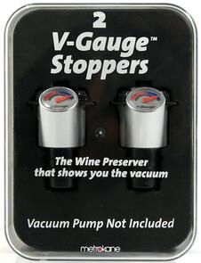 """Metrokane  """"V Gauge"""" Wine Preserver Stoppers (2)"""