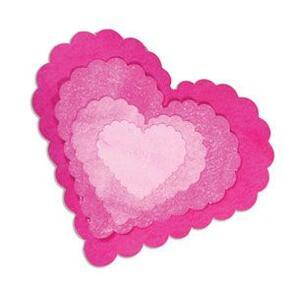Sizzix  Framelits Die Set 5PK - Hearts, Scallop