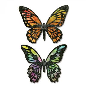 Sizzix Tim Holtz Dies - Detailed Butterflies 4/pk