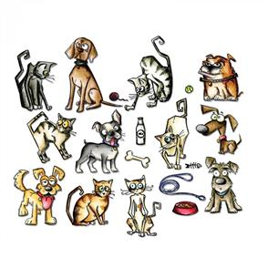 Sizzix Tim Holtz Dies - Mini Crazy Cats & Dogs