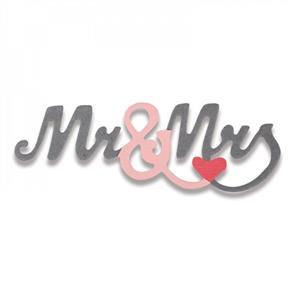 Sizzix  Thinlits Die - Mr. & Mrs. #2 Mini