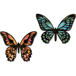 Sizzix Tim Holtz Thinlits Dies By  4/Pkg - Mini Detailed Butterflies