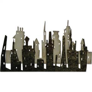 Sizzix Tim Holtz Dies - Skyline Cityscape - 2/pkg