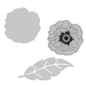 Sizzix  Framelits Die Set 2PK w/Stamp - Folk Flower