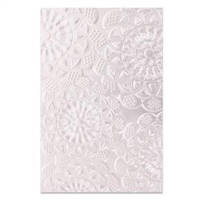 Sizzix Tim Holtz - 3-D Textured Impressions Embossing Folder - Doily