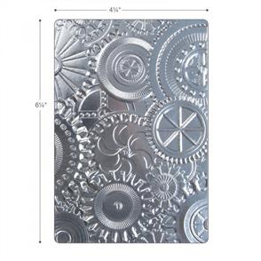 Sizzix  3-D Texture Fades Embossing Folder - Mechanics