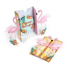 Sizzix  Thinlits Die Set 12PK - Card, Flamingo Fold-a-Long