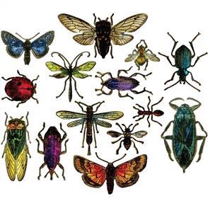 Sizzix Tim Holtz Framelits Dies 14/Pkg - Entomology