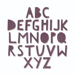 Sizzix Tim Holtz Thinlits Die Set 76PK - Alphanumeric Upper Case