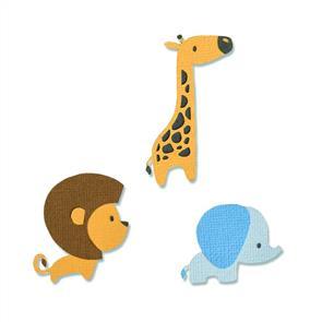 Sizzix  Thinlits Dies - Baby Jungle Animals