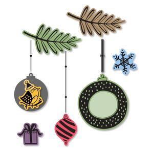 Sizzix  Framelits Die Set 10PK w/Stamps - Hanging Ornaments #2