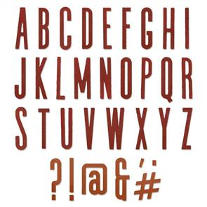 Sizzix Tim Holtz - Thinlits Die Set 65PK - Alphanumeric Classic Upper