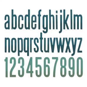 Sizzix Tim Holtz - Thinlits Die Set 96PK - Alphanumeric Classic Lower