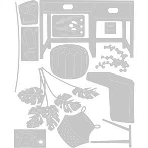 Sizzix  Thinlits Die Set 13PK Urban Interiors