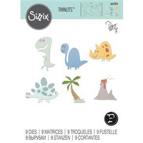 Sizzix  Thinlits Die Set 9PK Dinosaurs