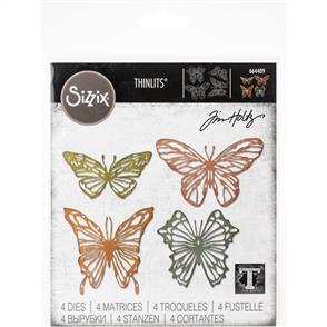 Sizzix Tim Holtz Thinlits Dies By  - Scribbly Butterfly