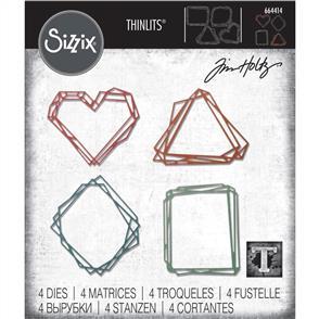Sizzix Tim Holtz - Thinlits Die Set 4PK Geo Frames