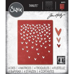 Sizzix Tim Holtz - Thinlits Die Set 4PK Falling Hearts