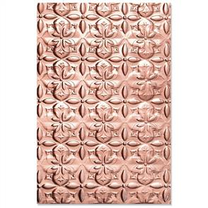 Sizzix  3-D Textured Impressions Embossing Folder Adorned Tile