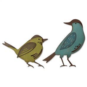 Sizzix Tim Holtz Thinlits Die By  - Feathered Friends