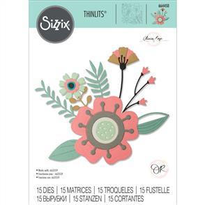 Sizzix  Thinlits Die Set 15PK - Creative Florals