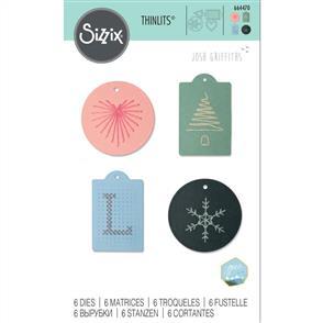 Sizzix  Thinlits Die Set 6PK - Stitched Tags