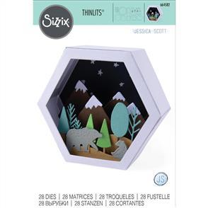 Sizzix  Thinlits Die Set 28PK - Box, Chaning Seasons Scene