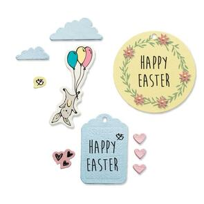 Sizzix  Framelits Die Set 9PK w/ 6PK Stamps - Easter Fun