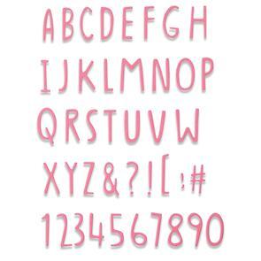 Sizzix Thinlits Die - Hand Drawn Alphabet