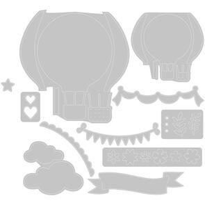 Sizzix Thinlits Die Set 10PK - Hot Air Balloon