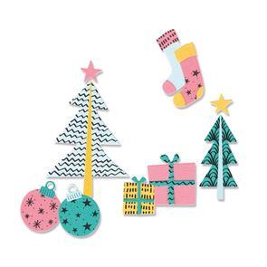 Sizzix  Groovy Christmas - 12 pack, Framelits Die Set